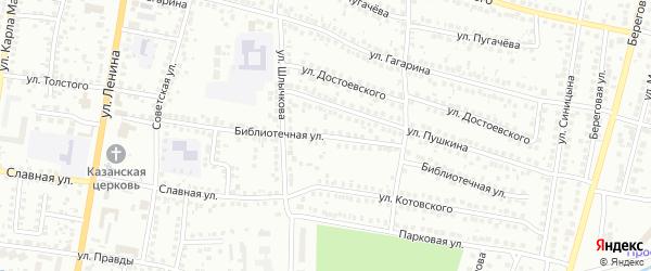 Библиотечная улица на карте Мелеуза с номерами домов