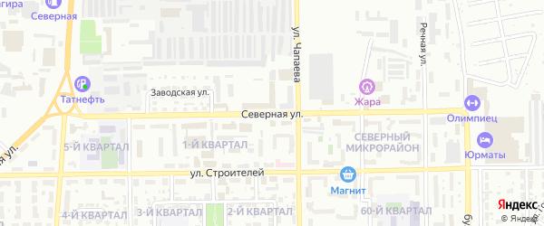 Северная улица на карте Салавата с номерами домов