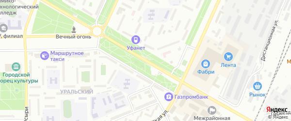 Улица Худайбердина на карте Стерлитамака с номерами домов