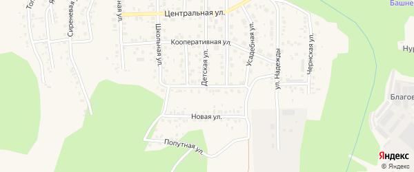 Улица Вахтовый поселок на карте Агидели с номерами домов