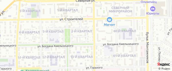 Восточная улица на карте Салавата с номерами домов