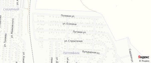Луговая улица на карте Мелеуза с номерами домов