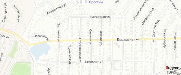 Светлая улица на карте Уфы с номерами домов