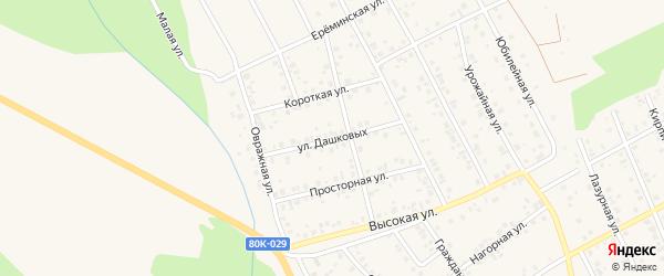 Улица Дашковых на карте Благовещенска с номерами домов