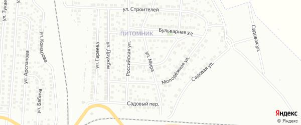 Улица Мира на карте Мелеуза с номерами домов