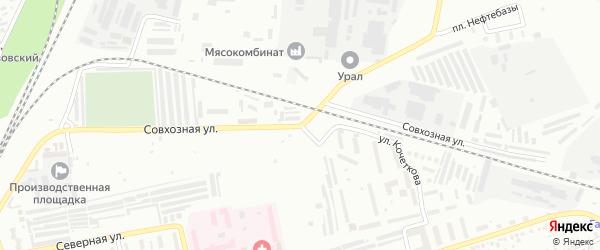Совхозная улица на карте Мелеуза с номерами домов