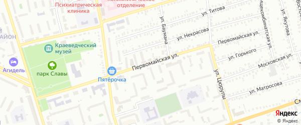 Первомайская улица на карте Мелеуза с номерами домов