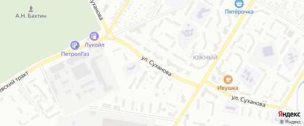 Улица Суханова на карте Стерлитамака с номерами домов