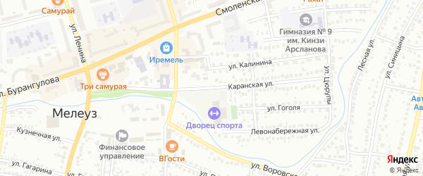 Каранская улица на карте Мелеуза с номерами домов