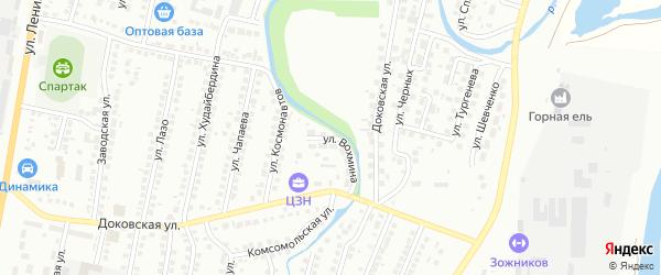 Улица Вохмина на карте Мелеуза с номерами домов