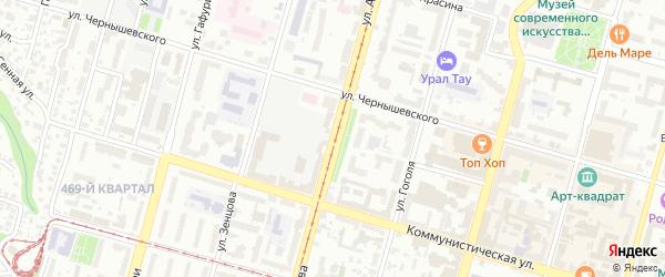 Улица Аксакова на карте Уфы с номерами домов