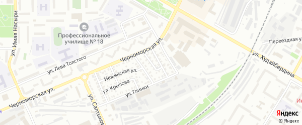 Мирный переулок на карте Стерлитамака с номерами домов
