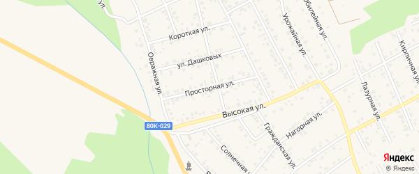 Просторная улица на карте Благовещенска с номерами домов