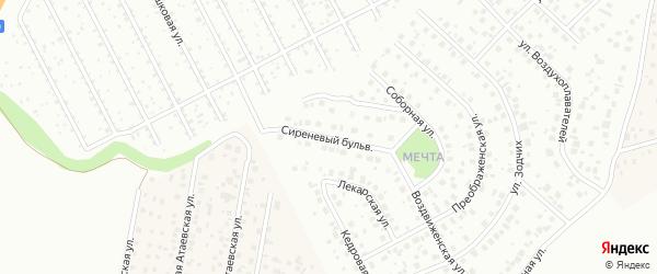 Сиреневый бульвар на карте Уфы с номерами домов