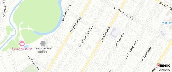 Улица 20 лет Октября на карте Стерлитамака с номерами домов