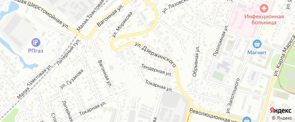 Семафорная улица на карте Уфы с номерами домов