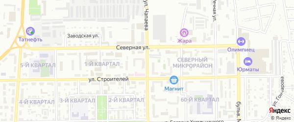 Улица Чапаева на карте Салавата с номерами домов