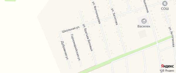Улица Братьев Беловых на карте села Мишкино с номерами домов