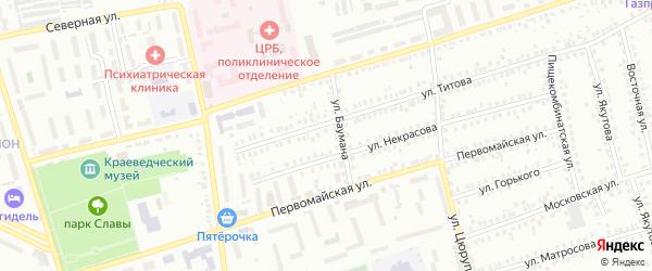 5-й микрорайон на карте Мелеуза с номерами домов
