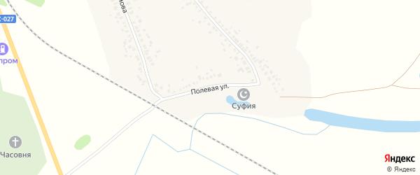 Полевая улица на карте деревни Кантюковки с номерами домов