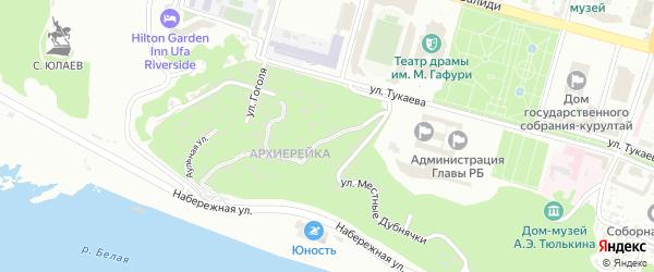 Республиканская Большая улица на карте Уфы с номерами домов