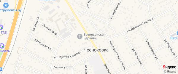 Школьная улица на карте Ольхового села с номерами домов