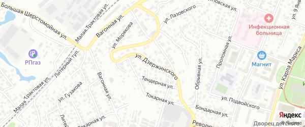 Улица Дзержинского на карте Уфы с номерами домов
