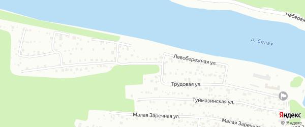 Трудовая улица на карте Уфы с номерами домов
