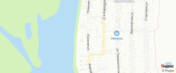 Пляжная улица на карте Уфы с номерами домов