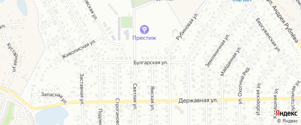 Булгарская улица на карте Уфы с номерами домов