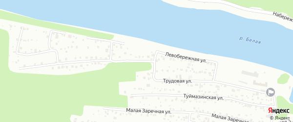 Малая Трудовая улица на карте Уфы с номерами домов