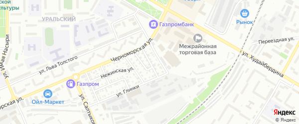 Украинский переулок на карте Стерлитамака с номерами домов