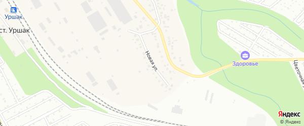 Новая улица на карте деревни Мокроусово с номерами домов