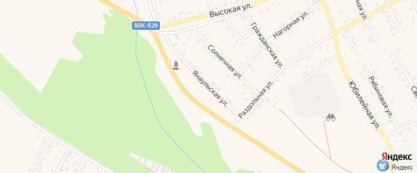 Янаульская улица на карте Благовещенска с номерами домов