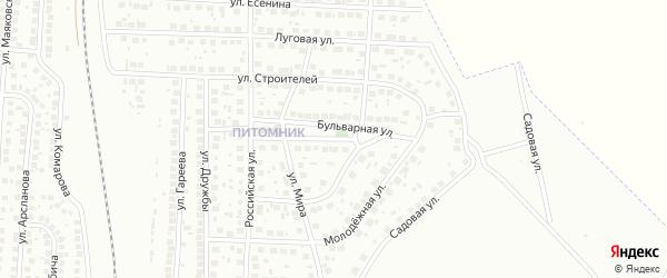 Бульварная улица на карте Мелеуза с номерами домов