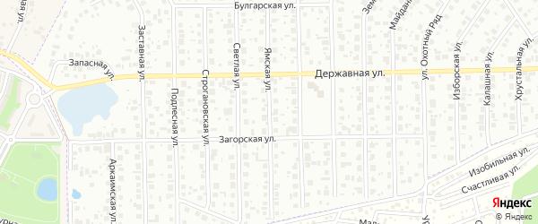 Ямская улица на карте Уфы с номерами домов