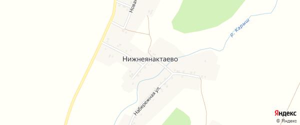 Центральная улица на карте деревни Нижнеянактаево с номерами домов