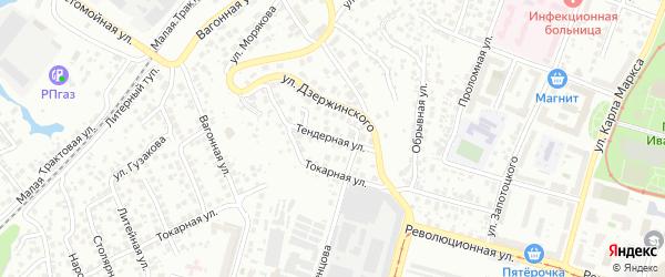 Тендерная улица на карте Уфы с номерами домов