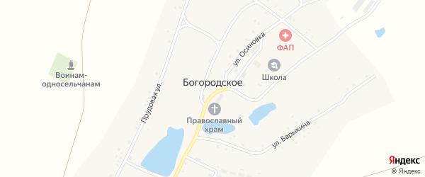 Прудовая улица на карте Богородского села с номерами домов