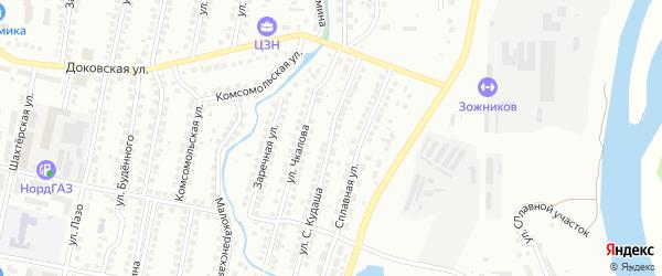 Улица Шаймуратова на карте Мелеуза с номерами домов