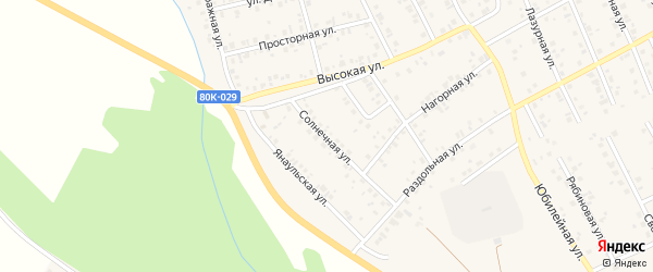 Солнечная улица на карте Благовещенска с номерами домов