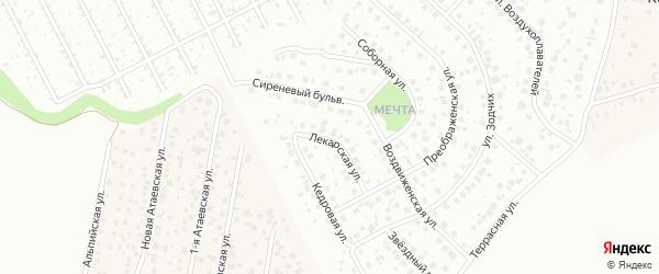 Лекарская улица на карте Уфы с номерами домов