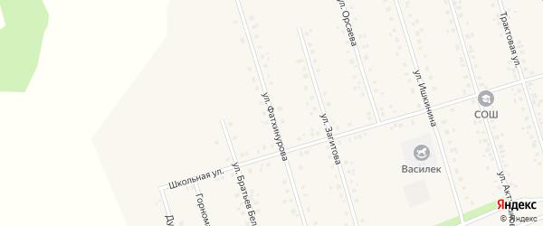 Улица Фатхинурова на карте села Мишкино с номерами домов
