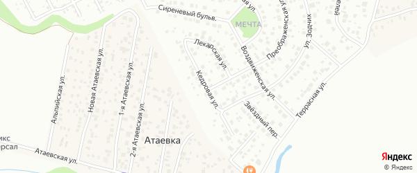 Кедровая улица на карте Уфы с номерами домов