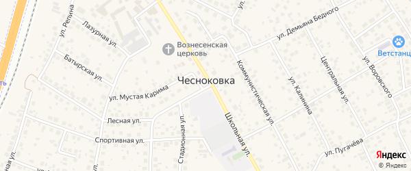Луговая улица на карте села Чесноковки с номерами домов