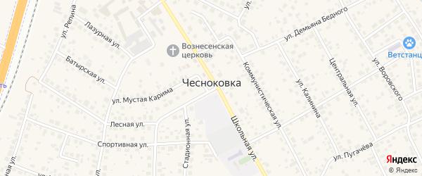 Трактовая улица на карте села Чесноковки с номерами домов
