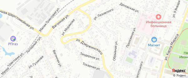 Улица Чеверева на карте Уфы с номерами домов