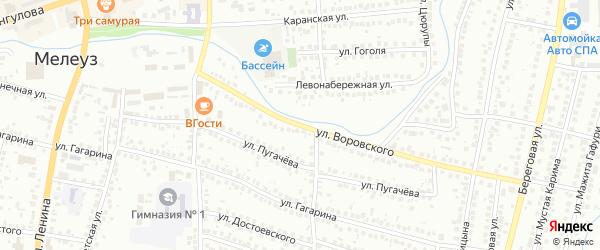 Улица Воровского на карте Мелеуза с номерами домов