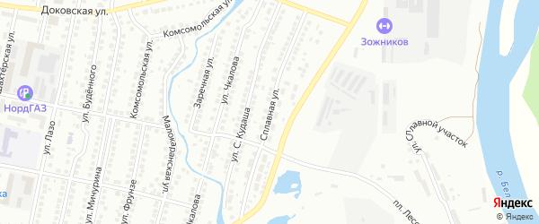 Сплавная улица на карте Мелеуза с номерами домов