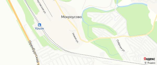 Карта деревни Мокроусово города Уфы в Башкортостане с улицами и номерами домов